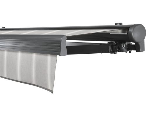 Halbkassettenmarkise 400x200 cm SOLUNA Comfort ohne Motor Dessin Trend D418