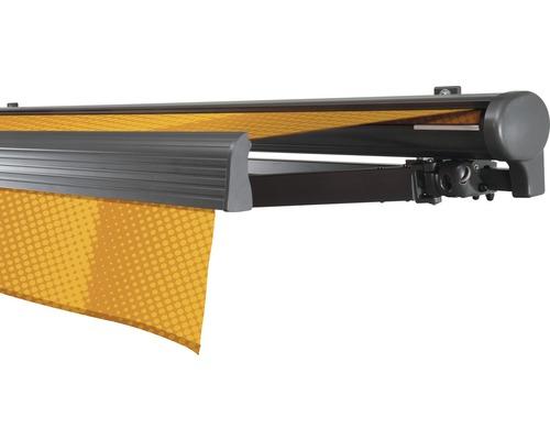 Halbkassettenmarkise 500x250 cm SOLUNA Comfort mit Motor Dessin Trend J200