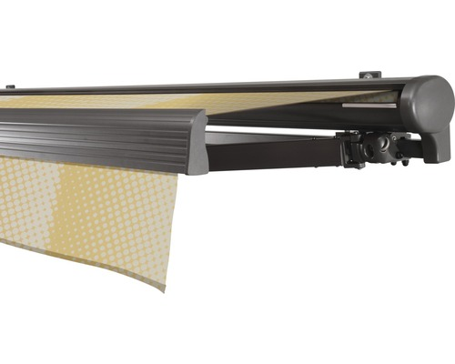 Halbkassettenmarkise 550x200 cm SOLUNA Comfort ohne Motor Dessin Trend J201