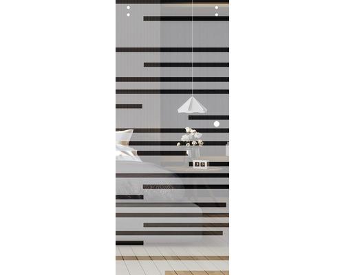 Glasschiebetürblatt Pertura Multistripe 920 x 2043 x 8 mm