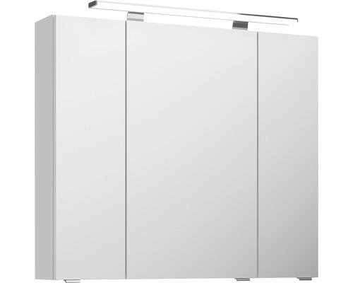 Spiegelschrank Pelipal Jetline 4010 80x70,3x17 cm 3-türig weiß