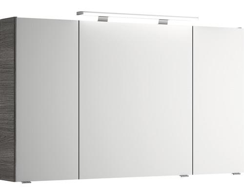Spiegelschrank Pelipal Xpressline 4010 120x70,3x17 cm 3-türig Graphit Struktur quer