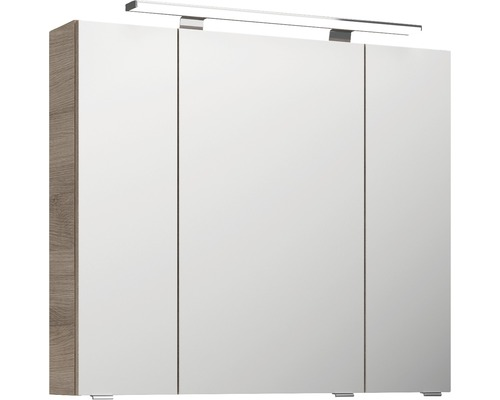 Spiegelschrank Pelipal Xpressline 4010 80x70,3x17 cm 3-türig Eiche