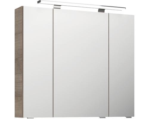 Spiegelschrank Pelipal Jetline 4010 80x70,3x17 cm 3-türig Eiche