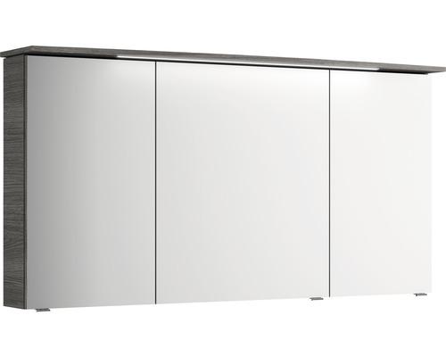 Spiegelschrank Pelipal Focus 4010 140x70,3x17 cm 2-türig graphit Struktur quer