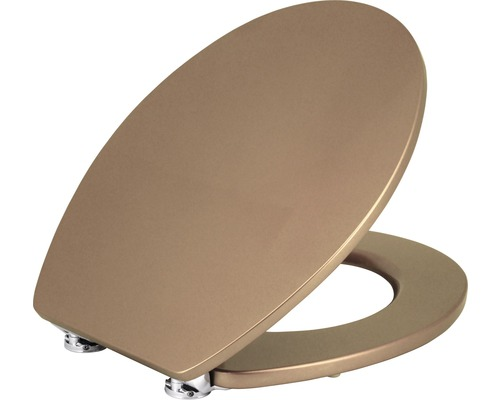 WC-Sitz Form & Style Metallic gold mit Absenkautomatik