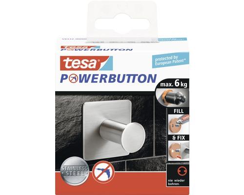 Haken Tesa Powerbutton Classic eckig edelstahl