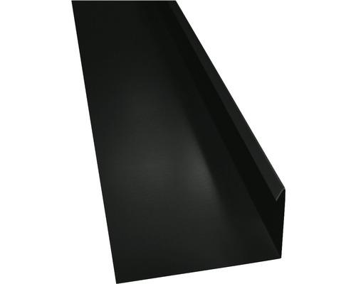 PRECIT Winkelblech mit Wasserfalz anthracite grey RAL 7016 2000 x 80 x 155 mm