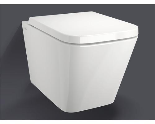 Wandtiefspülklosett-Set Jungborn Keona spülrandlos weiß mit WC-Sitz