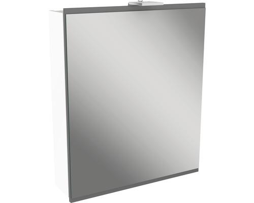 Spiegelschrank Fackelmann Lima 60x73 cm 1-türig weiß grau