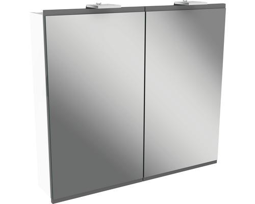 Spiegelschrank Fackelmann Lima 80x73 cm 2-türig weiß grau