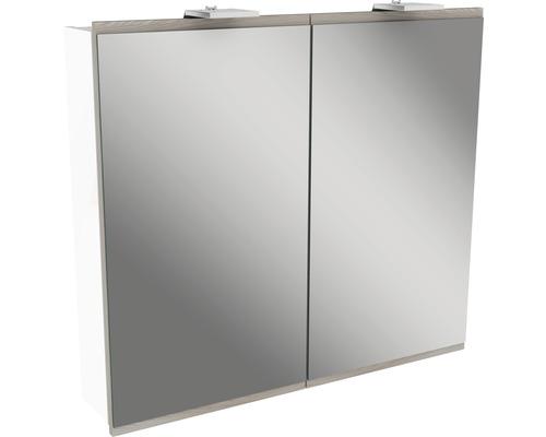 Spiegelschrank Fackelmann Lima 80x73 cm Steinesche 2-türig weiß