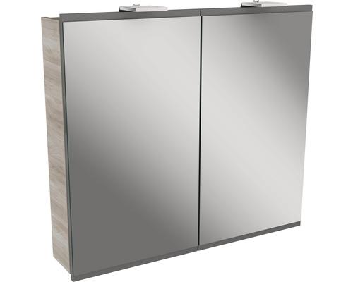 Spiegelschrank Fackelmann Lima 80x73 cm 2-türig Steinesche grau