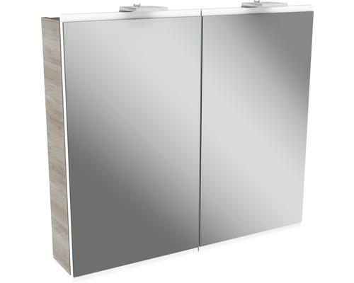 Spiegelschrank Fackelmann Lima 80x73 cm 2-türig Steinesche weiß