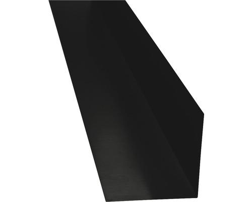 PRECIT Winkelblech ohne Wasserfalz jet black RAL 9005 2000 x 125 x 125 mm