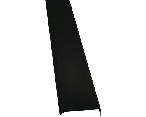 PRECIT Kappleiste jet black RAL 9005 1000 mm