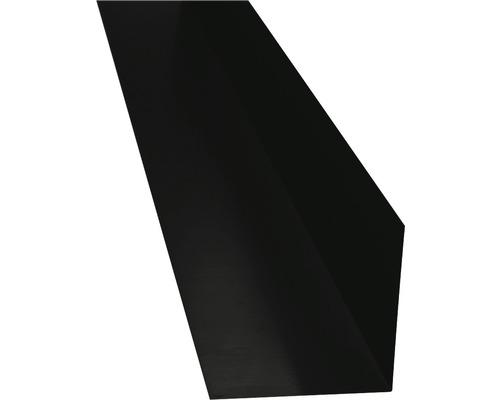 PRECIT Winkelblech ohne Wasserfalz jet black RAL 9005 1000 x 125 x 125 mm