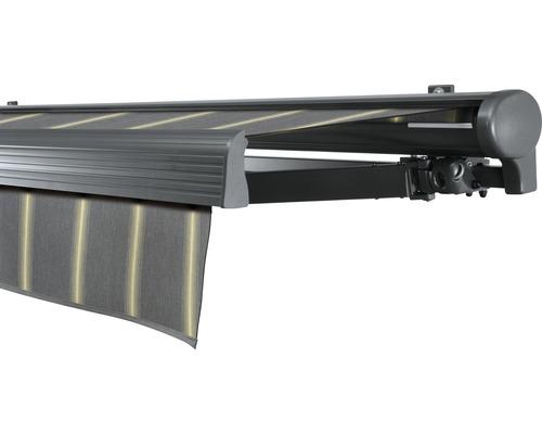 Hülsenmarkise 500x250 cm Soluna Comfort mit Motor Dessin Trend D417 inkl. Sonnen und Windwächter