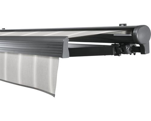 Hülsenmarkise 450x400 cm Soluna Comfort mit Motor Dessin Trend D418 inkl. Sonnen und Windwächter