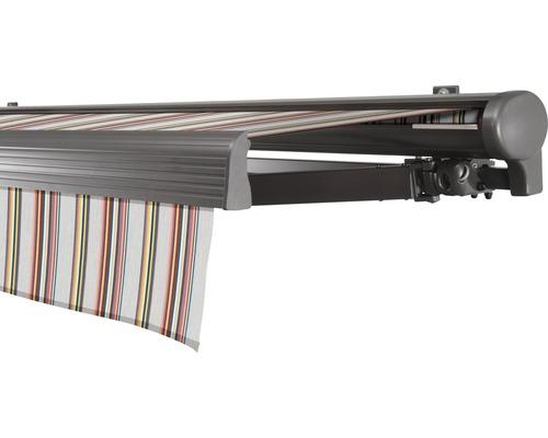 Hülsenmarkise 600x250 cm Soluna Comfort mit Motor Dessin Trend D421 inkl. Sonnen und Windwächter