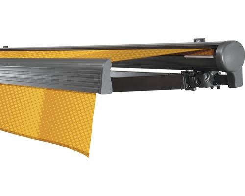 Halbkassettenmarkise 400x200 cm SOLUNA Comfort mit Motor Dessin Trend J200 inkl. Sonnen und Windwächter