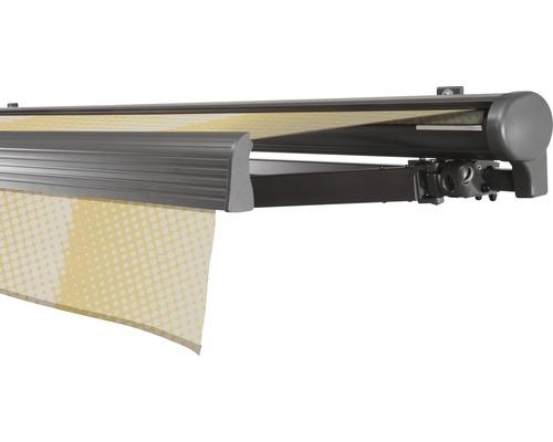 Hülsenmarkise 550x350 cm Soluna Comfort mit Motor Dessin Trend J201 inkl. Sonnen und Windwächter