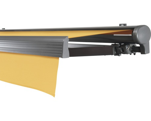 Hülsenmarkise 400x300 cm Soluna Comfort mit Motor Dessin Trend U415 inkl. Sonnen und Windwächter
