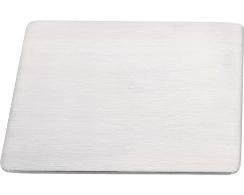 Edelstahlmontageplatte Reika 12x12 cm gebürstet