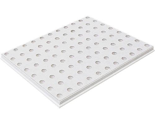 Gipskartonplatte Knauf Cleaneo® Akustik® 4SK 8/18R 1188x1998x 12,5 mm weiß