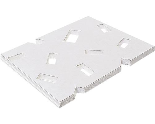 Gipskartonplatte Knauf Cleaneo® Akustik® UFF Streul. RE 1199x1999x 12,5 mm weiß