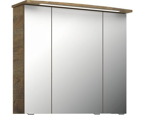 Spiegelschrank Pelipal Jetline 4010 80x17x70,3 cm 3-türig Eiche hell