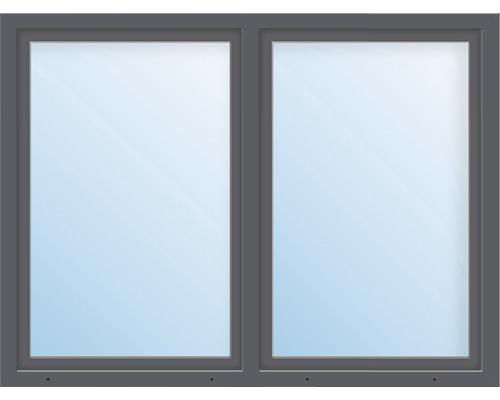 Kunststofffenster 2.Flg.mit Stulppfosten ESG ARON Basic weiß/anthrazit 1550x1400 mm