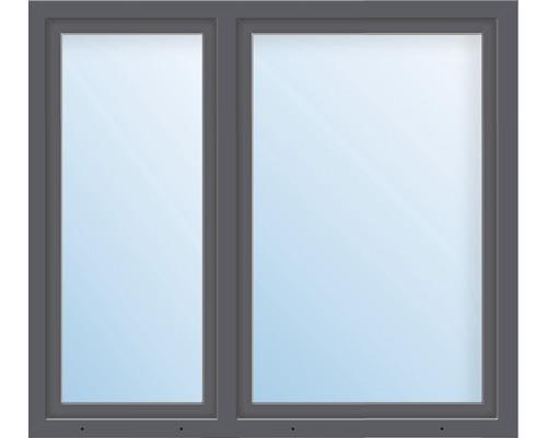 Kunststofffenster 2.Flg. ESG ARON Basic weiß/anthrazit 1550x1700 mm (1/3-2/3)