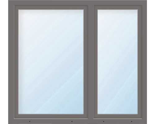 Kunststofffenster 2.Flg. ESG ARON Basic weiß/anthrazit 1150x1650 mm (2/3-1/3)