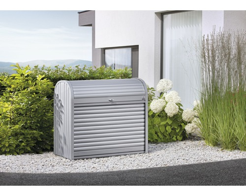 Mülltonnenbox biohort StoreMax 160, 163 x 78 x 120 cm, silber-metallic