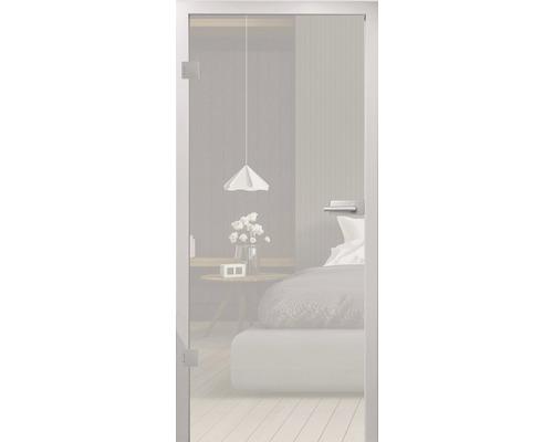 Glasdrehtüre Pertura ESG satiniert 82,1x201,3 cm Links