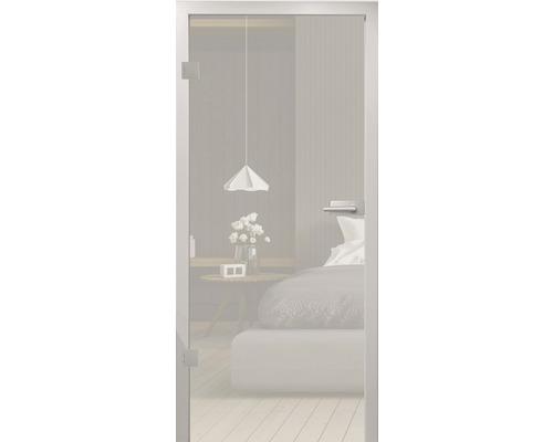 Glasdrehtüre Pertura ESG satiniert 87,1x201,3 cm Links