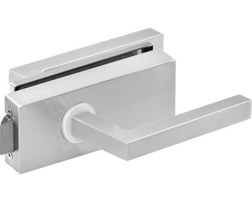 Türdrücker für Glastüre Quadre edelstahl unverschließbar inkl. Officebänder