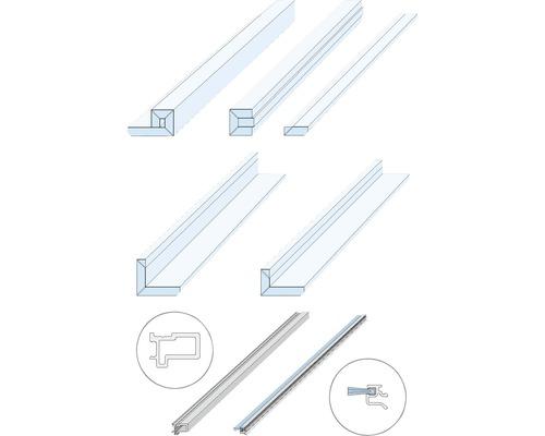 Knauf Zargenlose Türlaibung für Glastürblatt Fertigwanddicke 150 mm Pocket Kit Schiebetürsystem