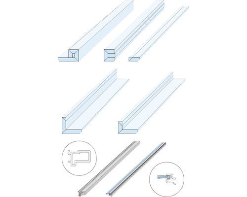 Pocket Kit Schiebetürsystem Knauf Zargenlose Türlaibung für Glastürblatt Fertigwanddicke 125 mm