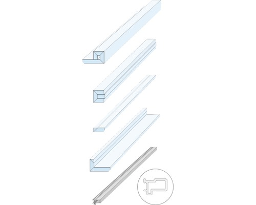 Pocket Kit Schiebetürsystem Knauf Zargenlose Türlaibung für Holztürblatt Fertigwanddicke 150 mm