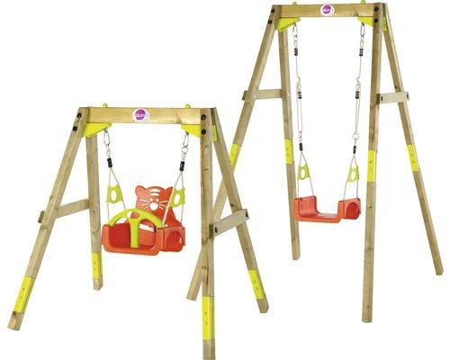 Einzelschaukel PLUM® mitwachsende Schaukel Holz kesseldruckimprägniert