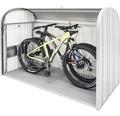 Mülltonnenbox biohort StoreMax 190, 190 x 97 x 136 cm, silber-metallic