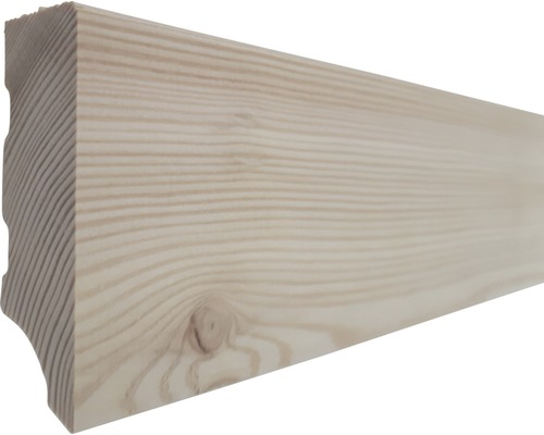 Sockelleiste Feelwood sibirische Lärche weiß geölt 20x60x2000 mm