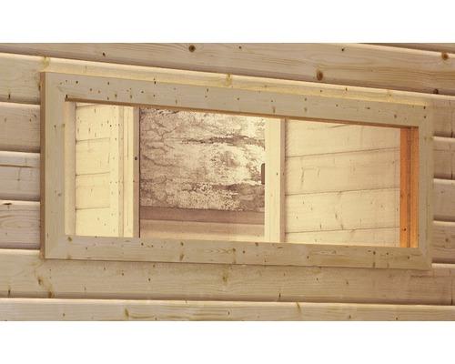 Saunafenster Karibu für 40 mm Saunen mit Isilierglas 42x122x4 cm