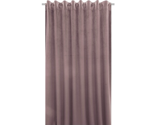 Vorhang mit Universalband Velvet rosa 140x280 cm