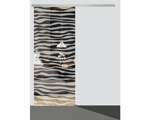Glasschiebetürblatt Pertura Wave 920 x 2050 x 8 mm DIN Links für Beschlag Selir
