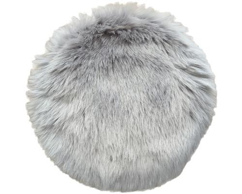 Sitzkissen Fell grau Ø 35 cm
