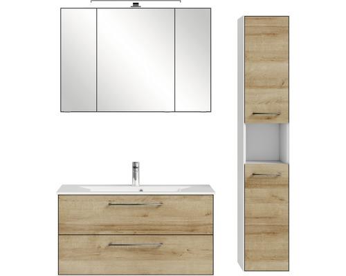 Badmöbel-Set Pelipal Xpressline 3065 166,8x132,8x44,7 cm Riviera Eiche