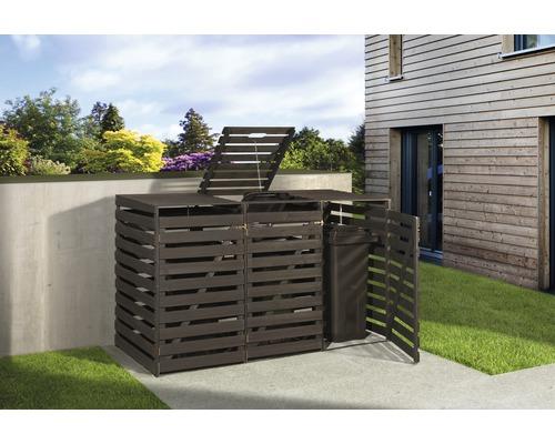 Mülltonnenbox weka 219x92x122 cm anthrazit